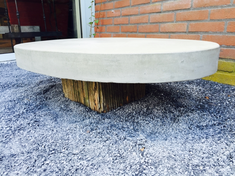 Salontafel Van Beton : Lavabos beton & hout salontafel